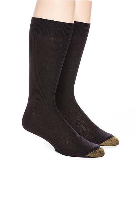 Gold Toe® Two-Pack Nylon Crew Socks