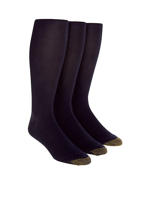 "Gold Toe® 3-Pack ""Metropolitan"" Over the Calf Socks"