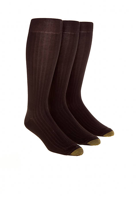 "Gold Toe® 3-Pack ""Canterbury"" Over the Calf Socks"