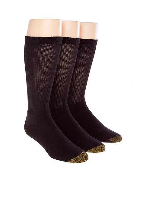 Gold Toe® 3-Pack Uptown Crew Socks