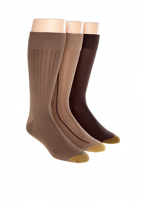 "Gold Toe® 3-Pack ""Ultra Soft"" Fashion Socks"