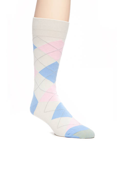 Gold Toe® Combed Cotton Argyle Crew Socks