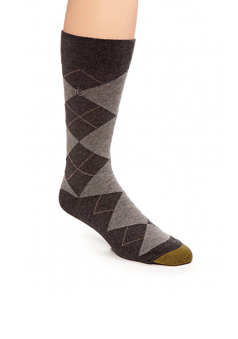 Gold Toe® Mens Argyle Crew Socks