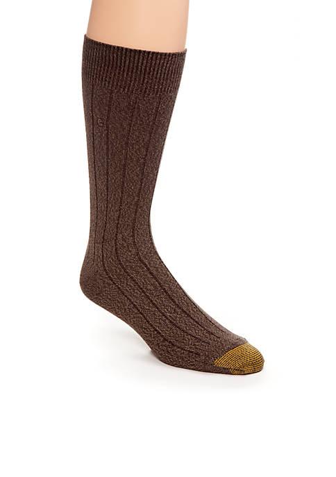 Gold Toe® Mens Ultra Soft Rib Crew Socks