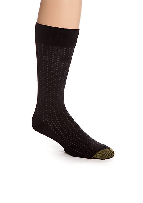 Gold Toe® Micro Dots Crew Socks