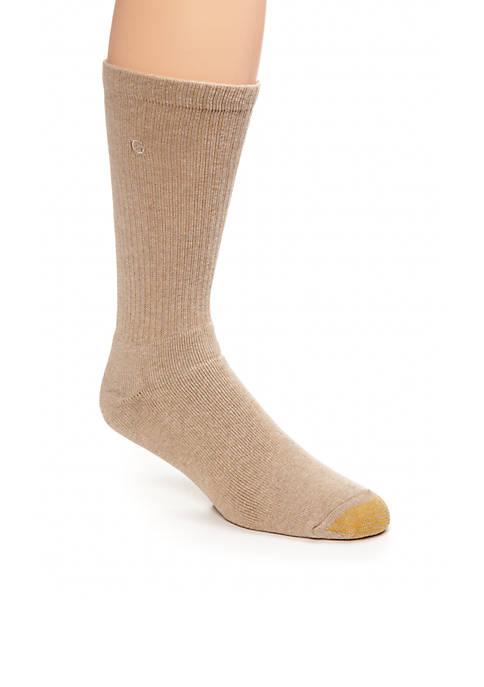 Gold Toe® Mens Cushioned Cotton Uptown Crew Socks