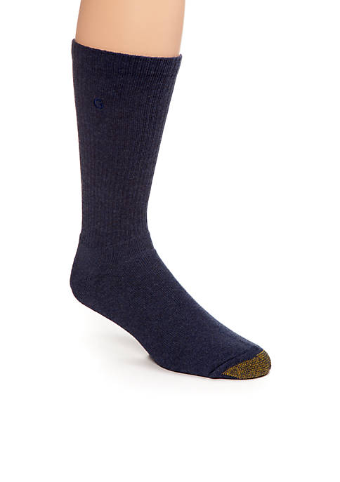Gold Toe® Mens Cushioned Cotton Uptown Crew Socks