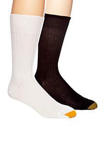 English Rib Non-Elastic Top Socks