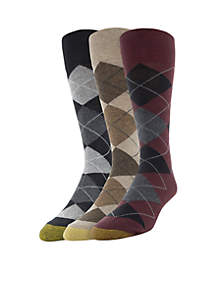 Set of 3 Carlyle Argyle Socks