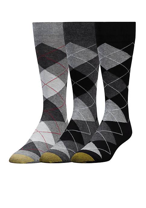 Gold Toe® Set of 3 Carlyle Argyle Socks