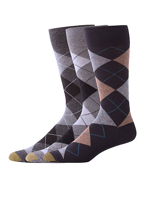 Gold Toe® Set of 3 Carlyle Argyle Socks