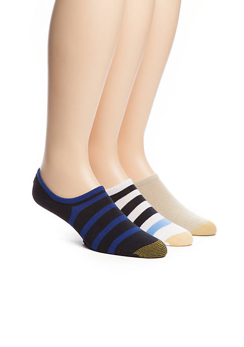 Gold Toe® 3-Pack Stay Cool Rugby Stripe Liner