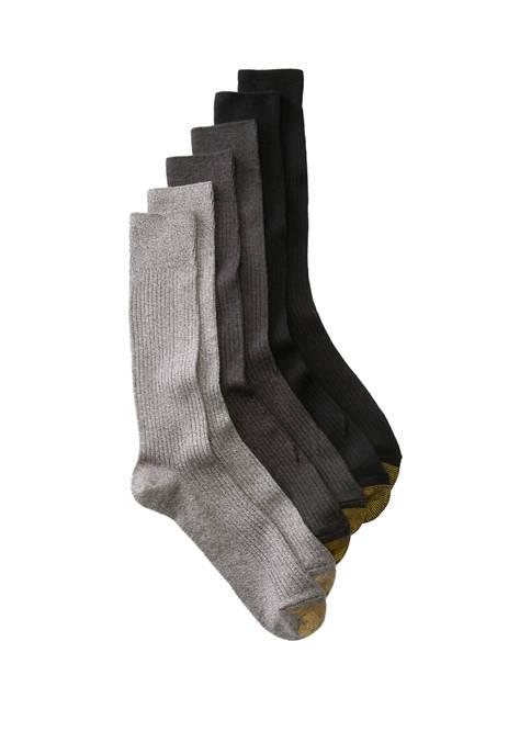 Big & Tall Set of 6 Extended Crew Socks