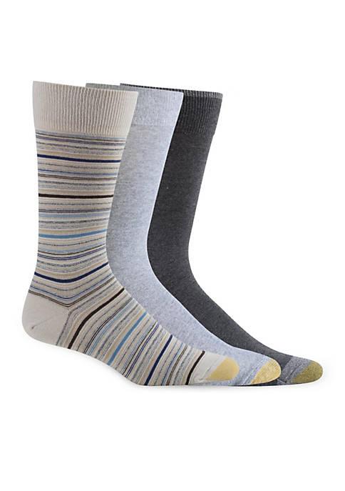 Gold Toe® Big & Tall Fashion Multi Stripe