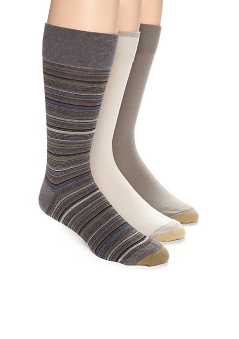 Gold Toe® Mini Stripe and Solid Crew Socks