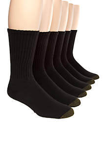 6-Pack Cotton Crew Athletic Socks