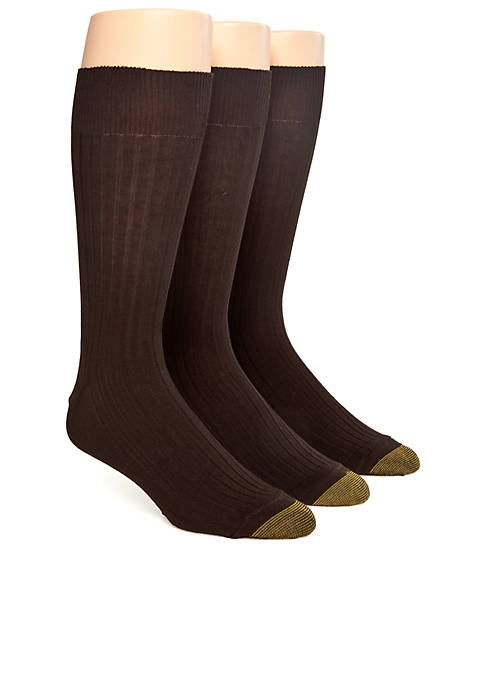 Gold Toe® 3-Pack Canterbury Dress Socks