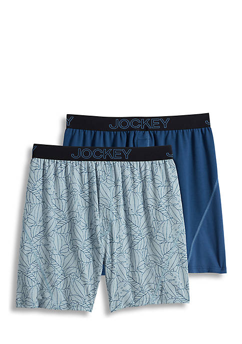 Jockey® 2-Pack Men's No Bunch Boxer