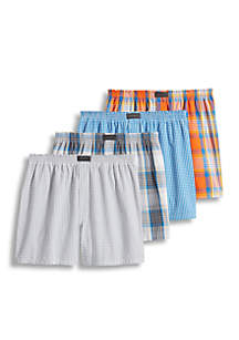 4 Pack ActiveBlend™ Woven Boxers