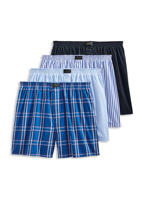 4 Pack Active Blend Boxers