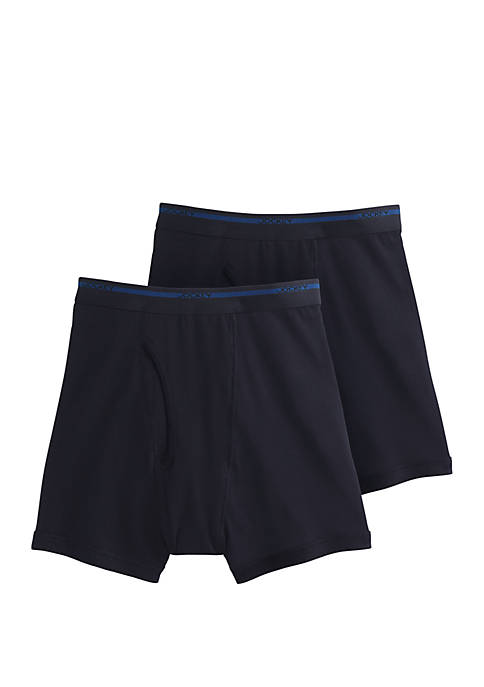 Big & Tall 2 Pack Cotton Boxer Briefs