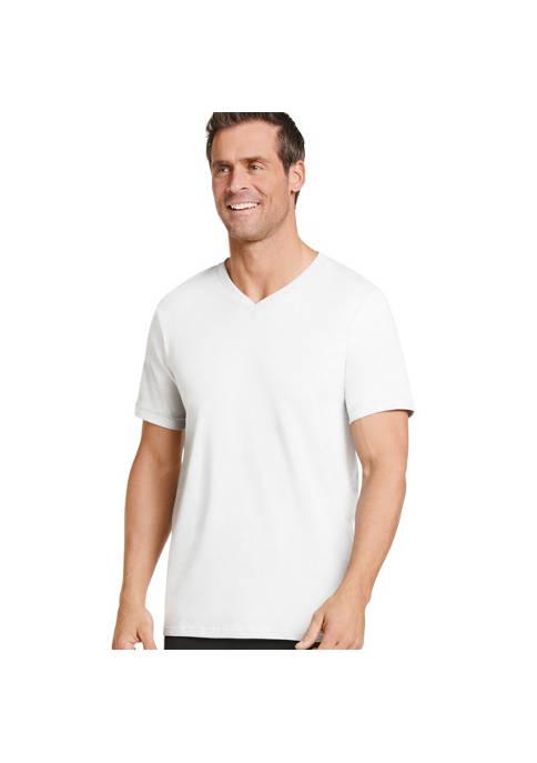 Jockey® Big & Tall Tag-Free V-Neck T-shirt 2