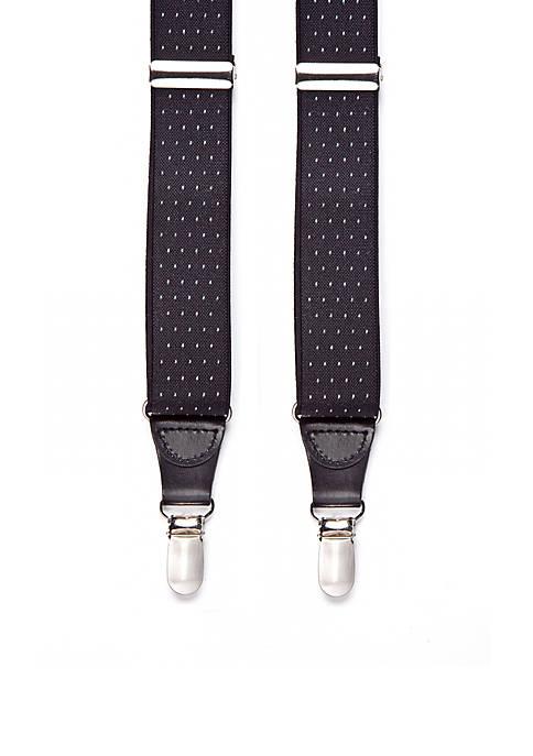 Saddlebred® Pin Dot Clip Suspenders