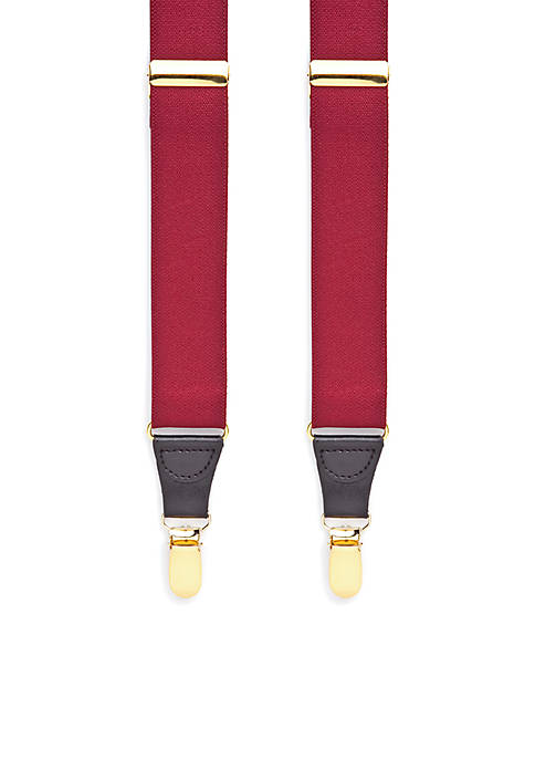 32-mm. Solid Stretch Clip Suspenders
