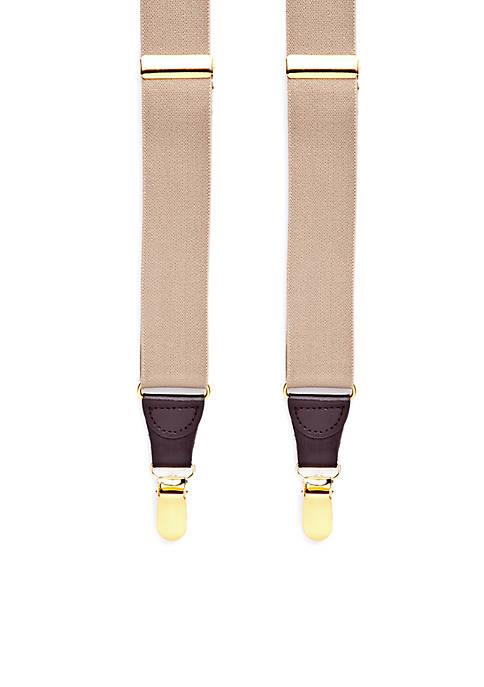 Saddlebred® 32-mm. Solid Stretch Clip Suspenders