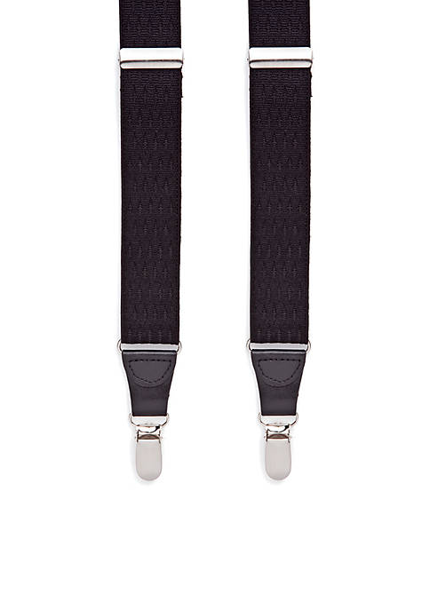 Saddlebred® Double Diamond Clip Suspenders