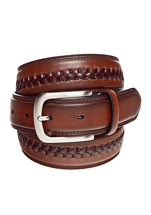 Braided Center Leather Belt