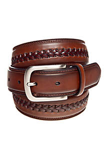 Braided Center Leather Belt