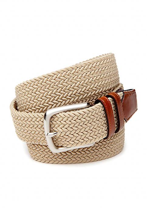 Fabric Stretch Leather Belt