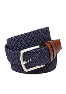Fabric Stretch Leather Belt