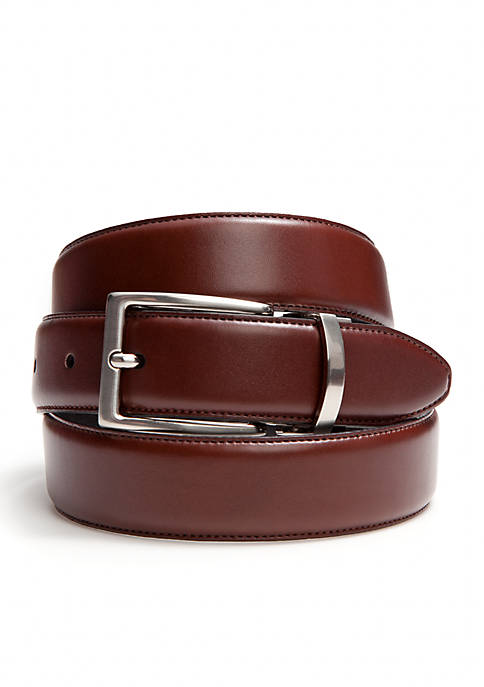 Reversible Leather Belt with Feather Edge