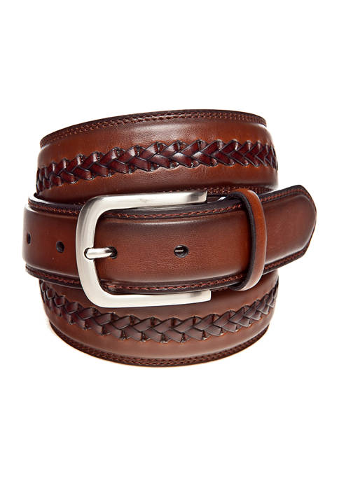 Saddlebred® Braided Center Leather Belt