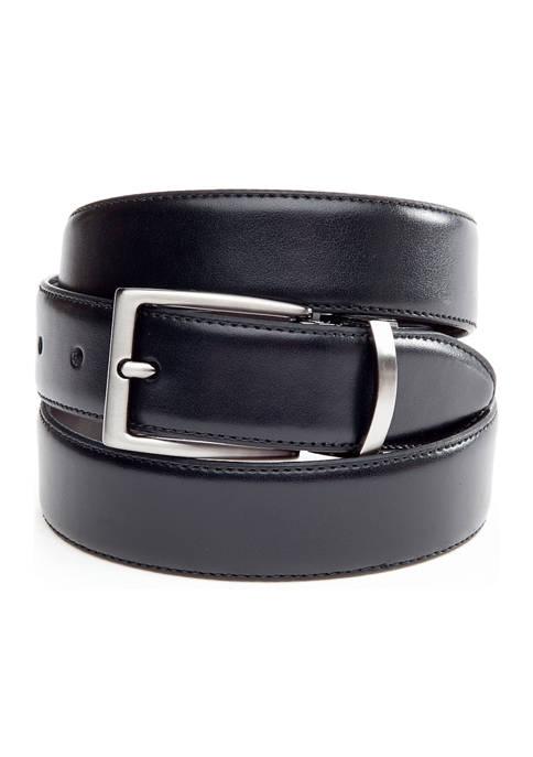 Saddlebred® 1.25 Inch Leather Reversible Brushed Nickle Belt