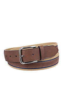 Stretch Belt With Brown Overlay