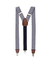 Saddlebred® Gingham Suspenders
