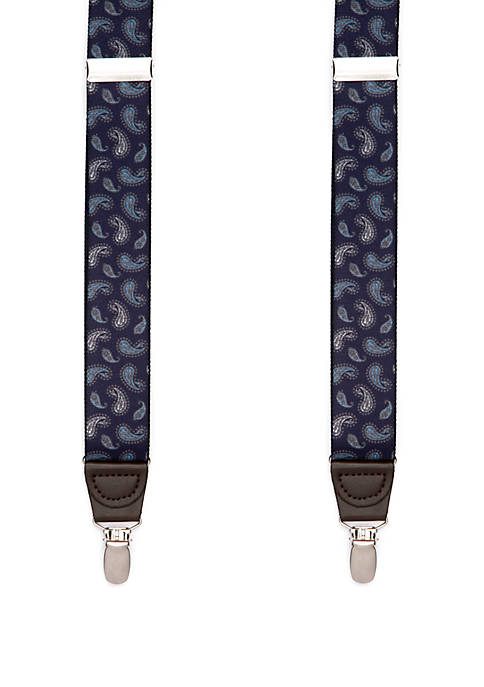 Saddlebred® 32 mm Paisley Printed Stretch Suspenders