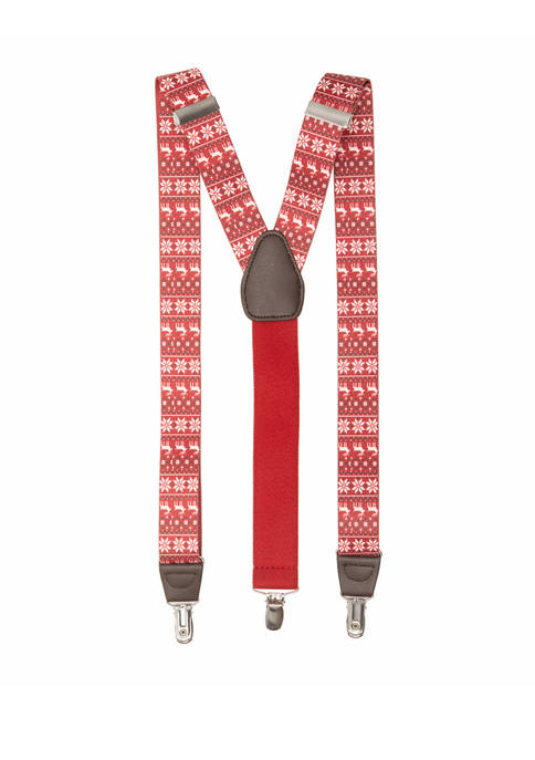 Saddlebred® 32 Millimeter Fair Isle Suspenders