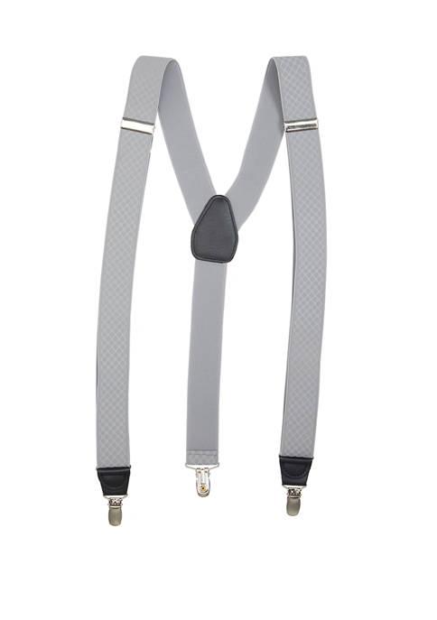 Saddlebred® 32 Millimeter Grey Texture Stretch Suspenders