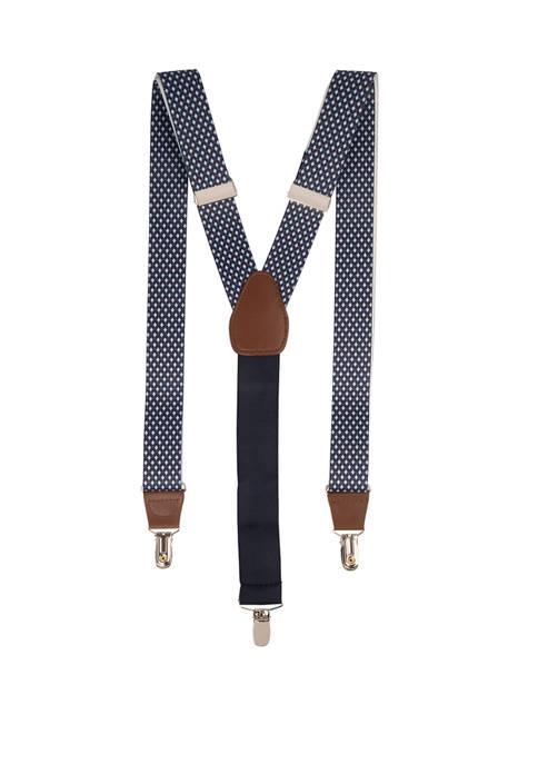Saddlebred® 32 Millimeter Diamond Printed Stretch Suspenders