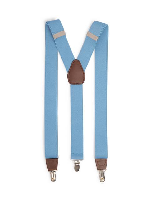 Saddlebred® Mens 32 Millimeter Solid Stretch Suspenders