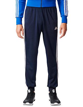 Black Durable Service Adidas Essential 3 Stripe Mens Joggers Activewear Bottoms
