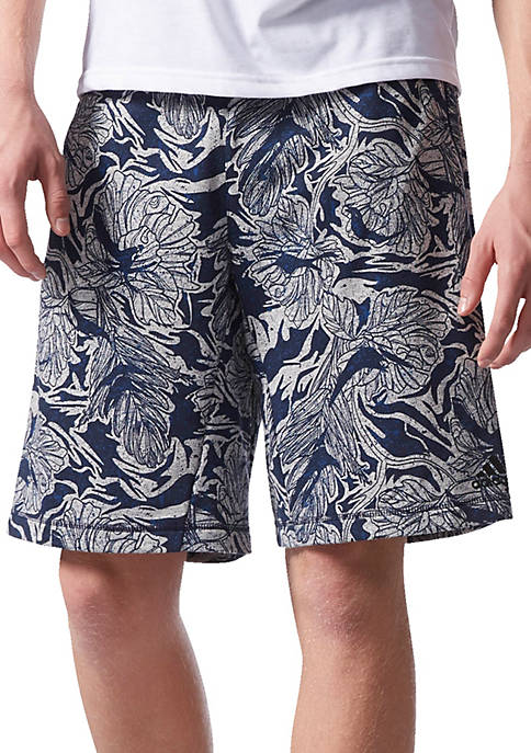 adidas French Terry Print Shorts