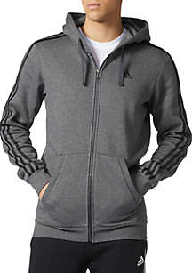 Big and Tall Essential Three Stripe Full Zip Hoodie