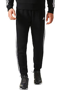 Men's Essential 3-Stripe Taper Jogger Pants