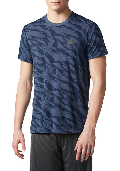 adidas Mens Ultimate Crew Camo Tee