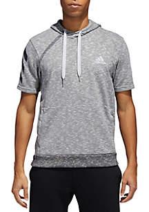 Basketball Short Sleeve Hoodie-Gray
